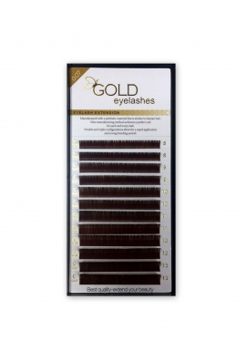GOLD volume brown color eyelashes