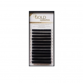 GOLD FLAT eyelashes, MIX