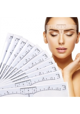 Eyebrows ruler sticker, 1pcs