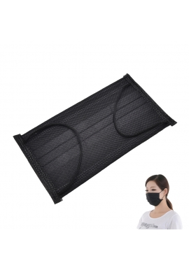 Black carbon face mask, 1pcs